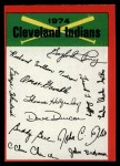 1974 Topps Red Team Checklists #8   Indians Team Checklist Front Thumbnail