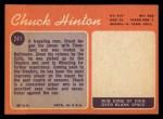 1970 Topps #241   Chuck Hinton Back Thumbnail