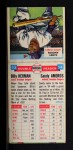1955 Topps Doubleheaders #53  Billy Herman / Sandy Amoros  Back Thumbnail