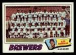 1977 Topps #51  Brewers Team Checklist  -  Alex Grammas Front Thumbnail