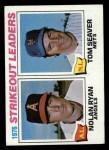 1977 Topps #6  1976 Strikeout Leaders    -  Nolan Ryan / Tom Seaver Front Thumbnail