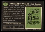 1969 Topps #28  Howard Twilley  Back Thumbnail