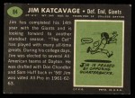 1969 Topps #84   Jim Katcavage Back Thumbnail