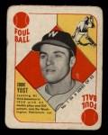 1951 Topps Blue Back #1   Eddie Yost Front Thumbnail