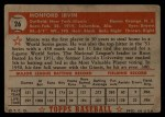 1952 Topps #26 RED  Monte Irvin Back Thumbnail