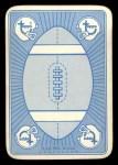 1971 Topps Game Inserts #1   Dick Butkus Back Thumbnail