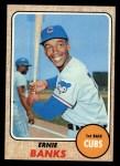 1968 Topps #355  Ernie Banks  Front Thumbnail