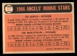 1966 Topps #417  Angels Rookies  -  Jim McGlothlin / Ed Sukla Back Thumbnail