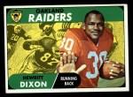1968 Topps #64   Hewritt Dixon Front Thumbnail