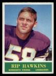 1964 Philadelphia #103  Rip Hawkins     Front Thumbnail