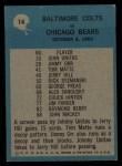 1964 Philadelphia #14  Baltimore Colts  -  Don Shula Back Thumbnail