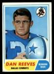 1968 Topps #77   Dan Reeves Front Thumbnail