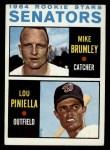 1964 Topps #167  Senators Rookies  -  Lou Piniella / Mike Brumley Front Thumbnail