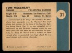 1961 Fleer #31   Tom Meschery Back Thumbnail