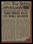 1962 Topps Civil War News #53   Train of Doom Back Thumbnail