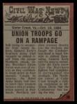 1962 Topps Civil War News #78   Sudden Attack Back Thumbnail