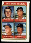 1974 Topps #596  Rookie Pitchers    -  Wayne Garland / Fred Holdsworth / Mark Littell / Dick Pole Front Thumbnail