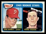 1965 Topps #521  Phillies Rookies  -  Morrie Steevens / Dave Bennett Front Thumbnail