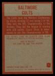 1965 Philadelphia #1   Baltimore Colts Back Thumbnail