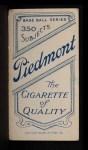 1909 T206 #157  Jimmy Dygert  Back Thumbnail