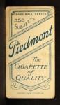 1909 T206 #206  Topsy Hartsel  Back Thumbnail