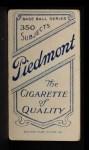 1909 T206 #315  Pryor McElveen  Back Thumbnail