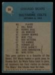 1964 Philadelphia #28   -  George Halas Chicago Bears Back Thumbnail