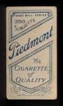1909 T206 #105   Wid Conroy Back Thumbnail