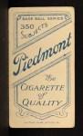 1909 T206 #225 POR Miller Huggins  Back Thumbnail