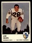 1961 Fleer #164   Jim Sears Front Thumbnail