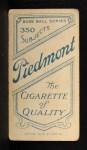 1909 T206 #115  Dode Criss  Back Thumbnail