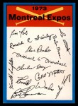 1973 Topps Blue Team Checklists  Montreal Expos  Front Thumbnail