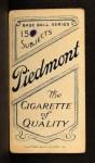 1909 T206 #459 xGLV Jake Stahl  Back Thumbnail