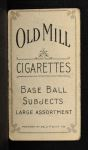 1909 T206 #154 BAL Jack Dunn  Back Thumbnail