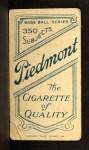 1909 T206 #215  Dick Hoblitzell  Back Thumbnail