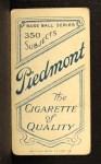 1909 T206 #351 THR Danny Murphy  Back Thumbnail