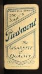 1909 T206 #69   Howie Camnitz Back Thumbnail