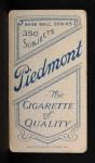 1909 T206 #224 SHO Miller Huggins  Back Thumbnail