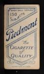 1909 T206 #41   Joe Birmingham Back Thumbnail