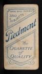 1909 T206 #311  John McAleese  Back Thumbnail