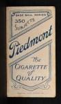 1909 T206 #61 FLD Al Burch  Back Thumbnail