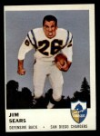 1961 Fleer #164  Jim Sears  Front Thumbnail