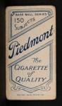 1909 T206 #107 xCAP Doc Crandall  Back Thumbnail