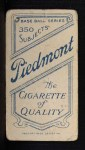 1909 T206 #392  Eddie Phelps  Back Thumbnail