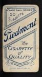 1909 T206 #189  Billy Gilbert  Back Thumbnail