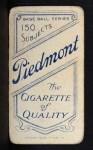 1909 T206 #92 POR Fred Clarke  Back Thumbnail