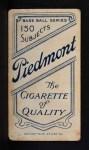 1909 T206 #324 BRK Harry McIntyre  Back Thumbnail