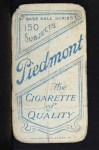 1909 T206 #443 xGLV Jimmy Sheckard  Back Thumbnail