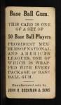 1909 E92 Dockman #6  Joe Casey  Back Thumbnail