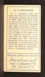1911 T205 #64  Cecil Ferguson  Back Thumbnail
